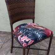 Cadeira Marcelia estofado Fixo