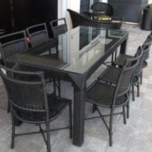 Mesa 1,60 cm e cadeiras