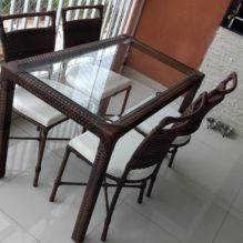 Mesa Retangular com cadeiras Marcelia