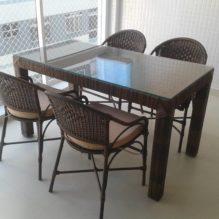Mesa Retangular com cadeiras Roni